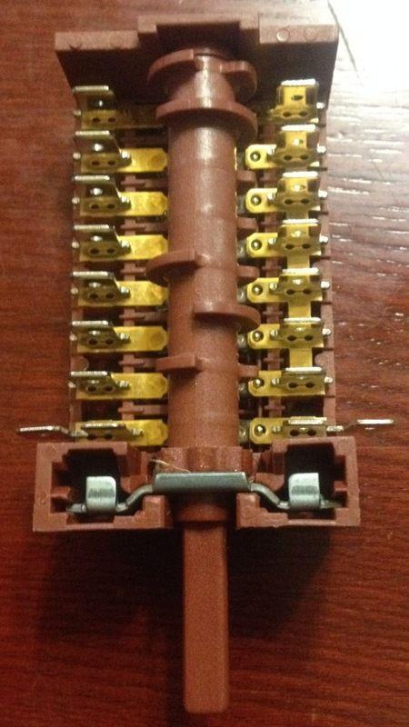 Переключатель 870801 для электроплит Ардо Беко Ханса 7-ми позиционный производство Испания Barcelona