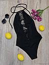 Женский слитный купальник, чёрный,  Perilla, фото 2