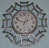 Часы на стену фигурные, серебро (40х40х4 см.)