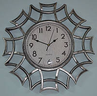 Часы на стену фигурные, серебро (40х40х4 см.), фото 1