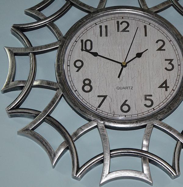 Часы на стену фигурные, серебро