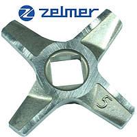 Нож для мясорубки Zelmer NR5 (ОРИГИНАЛ) Двухсторонний 86.1009 631384 (ZMMA025X), фото 1