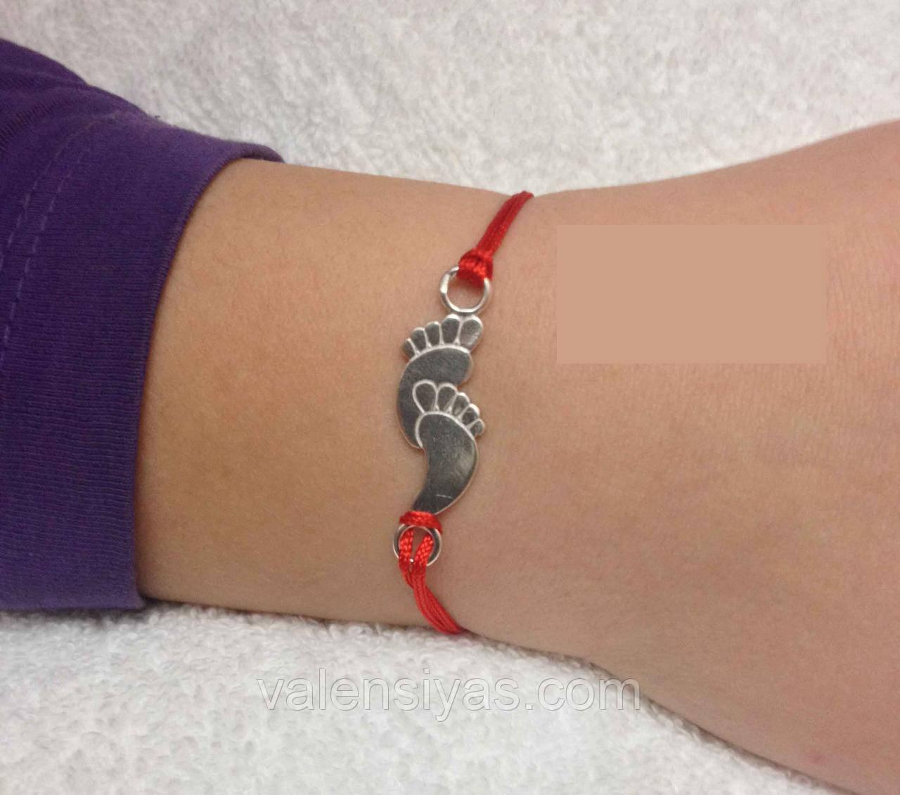 Браслет червона нитка - оберіг дитячі ніжки