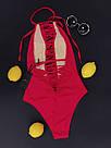 Женский слитный купальник, красный,  Perilla, фото 5