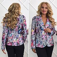 Эффектный пиджак с отложным воротником и длинными рукавами Размер 52,54,56,58, фото 1