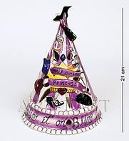 Фарфоровый подсвечник-домик С Днем Рождения, принцесса
