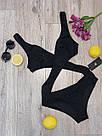 Женский оригинальный слитный купальник, чёрный,  Perilla, фото 4