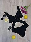 Женский оригинальный слитный купальник, чёрный,  Perilla, фото 5