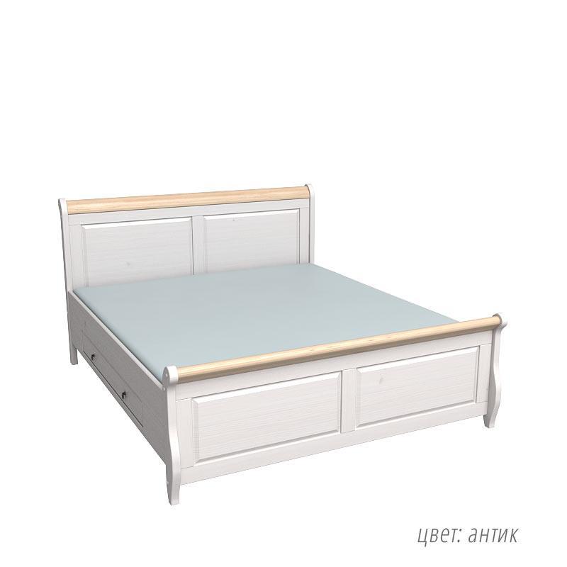 Кровать Мальта -160 с ящиками (без ламелей) Империя дерева
