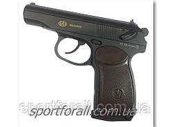 Пневматический пистолет SAS Makarov + 10 баллонов СО2 + 500 шариков ВВ