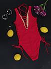 Женский слитный купальник, красный,  Perilla, фото 3