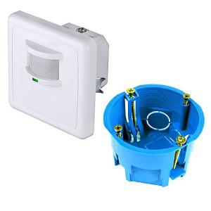 Внешний вид датчика освещения для установки в подрезетник - резеточный монтаж