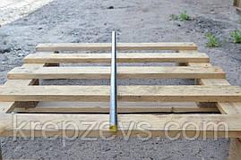Шпильки резьбовые метровые с левой резьбой M5×1000 DIN 975, класс прочности 8.8