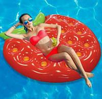 Новый дизайн надувной клубничный плавающий пляжный матрас для плавания180 см