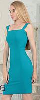 Платье миди классика, женское приталенное платье на бретелях. Разные цвета и размеры., фото 1