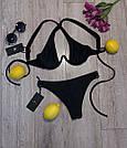 Женский раздельный купальник, чёрный,  Perilla, фото 5