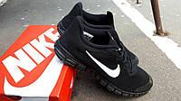 Мужские кроссовки Nike Free Run 3.0 черные-космос (ТОП реплика)