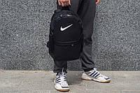 Рюкзак в стиле Nike городской унисекс с отделением для ноутбука черный (Air Max, Just Do It), фото 1