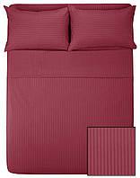 Комплекты постельного HOTEL САТИН-СТРАЙП 2х2 (бордо, 100% хлопок), фото 1