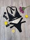 Женский раздельный купальник, чёрный,  Perilla, фото 6