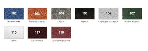 Краска молотковая (с молотковым эффектом) BIODUR 0,7л Серая 104, фото 2