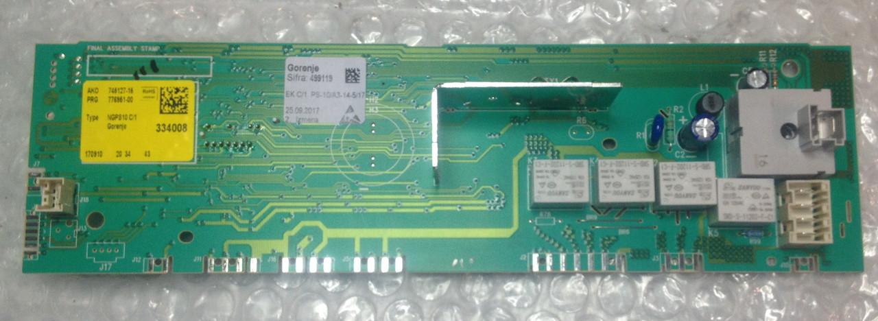 Модуль (плата управления) Gorenje 499119 для стиральной машины