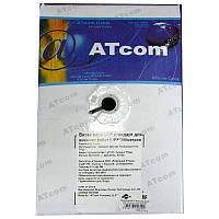 Кабель  для компьютерных  сетей AT-com UTP cat5e,для внешних работ,алюминий-медь(за 1метр)
