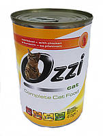 Повнофункціональний корм для дорослих кішок Ozzi (курка )  415 гр