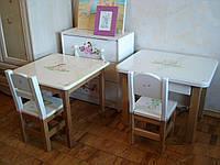 Защитный прозрачный коврик на стол и стул 40х60см. Толщина 0,6мм