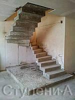 Лестница двойной каркас для дома