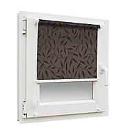 Рулонные шторы ткань НАТУРА 2261 Тёмно-коричневый цвет