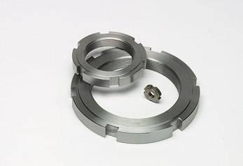 Гайка кругла шлицевая М22х1,5 DIN 1804 з нержавійки, фото 2