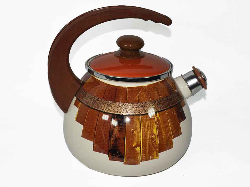 """Чайник эмалированный со свистком 2,5 литра Тын (I2711/4) """"IDILIA"""""""