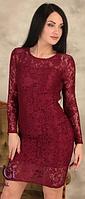 Кружевное гипюровое коктейльное платье длины миди, размеры норма, разные цвета., фото 1