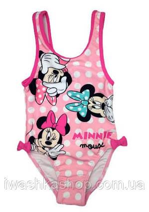 Розовый купальник для девочки в горох с Минни Minnie Mouse,  Disney baby р. 74 на 1 год