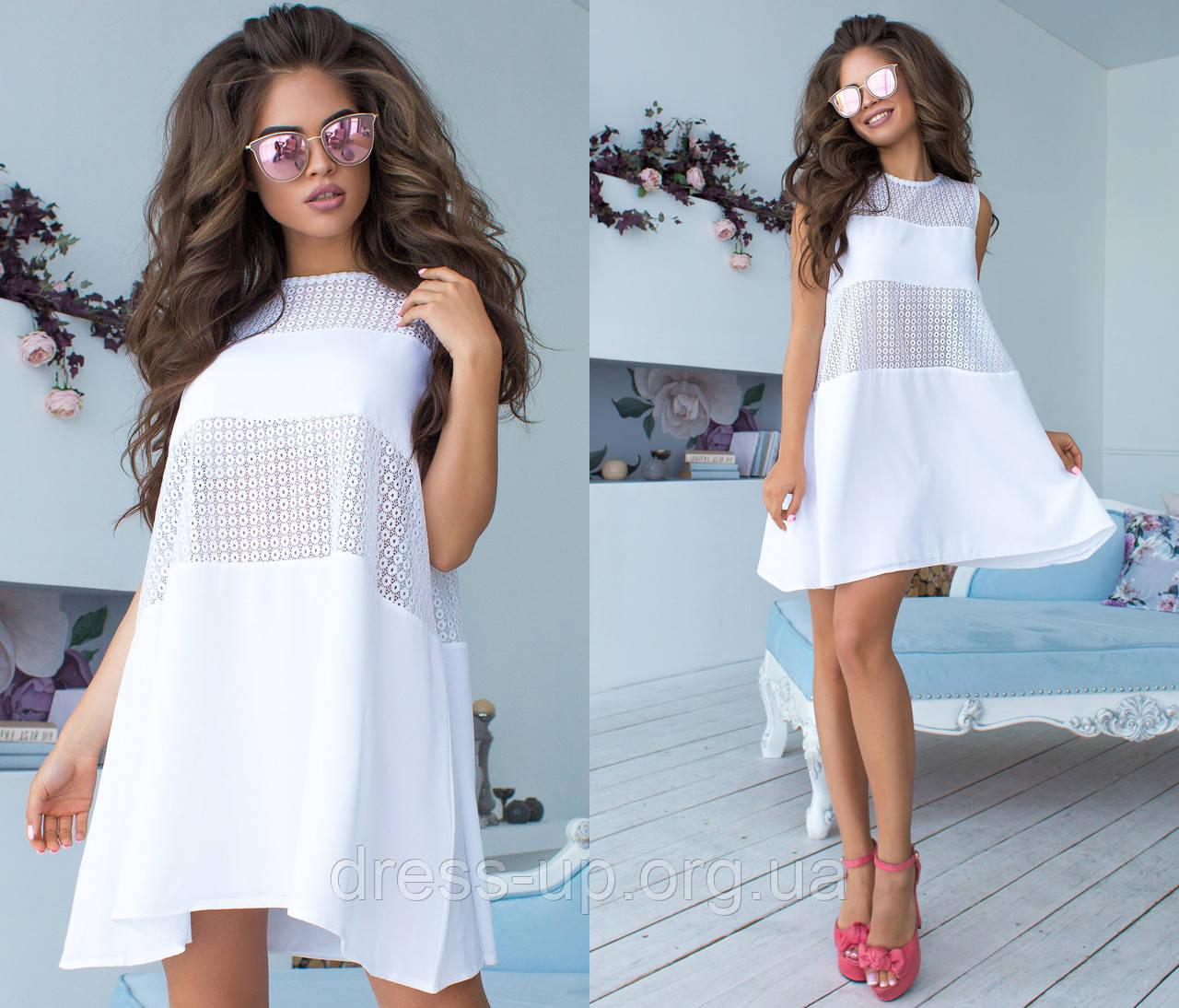 a8f2041ec30 Купить Летнее платье женское разлетайку (3 цвета)- Белое ТК -4008 ...