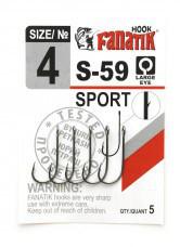 Одинарный крючок Fanatik S-59 №4 SPORT