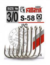 Одинарный крючок Fanatik S-58 №3/0 , фото 2