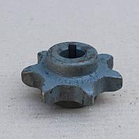 Звездочка z-7 d-25 двусторсторонняя шнека зернового, колос. (54-10250 (Н.023.203)), фото 1