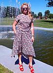 """Плаття в клітку бавовняне літній Пл 073 """"ПОЛУНИЧКА"""" , 48-56, фото 7"""