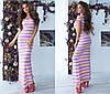 Стильне літнє жіноче плаття в смужку (2 кольори)- Жовтий ТК/-2114