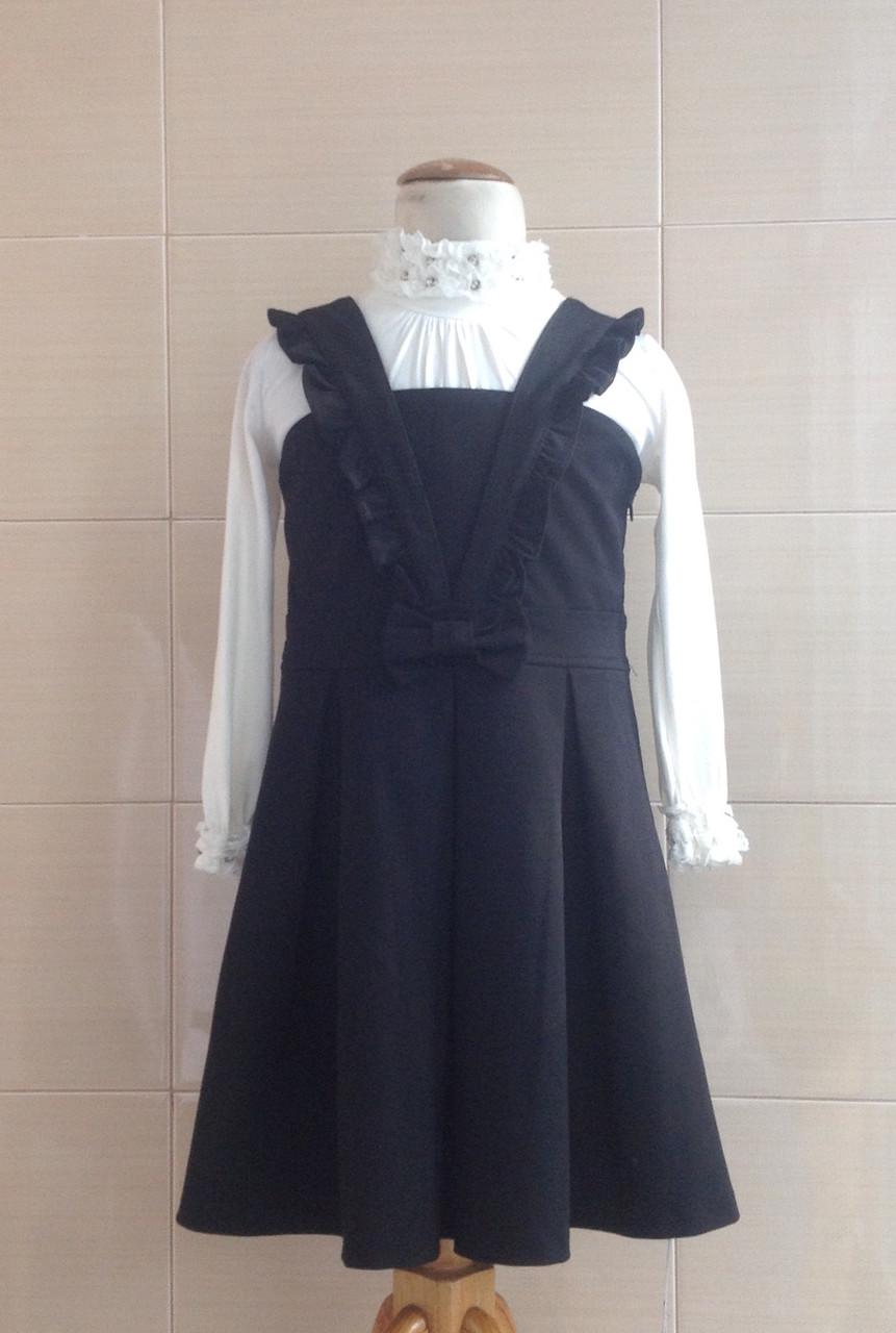 Сарафан школьный черный Ahsen с юбкой в складку