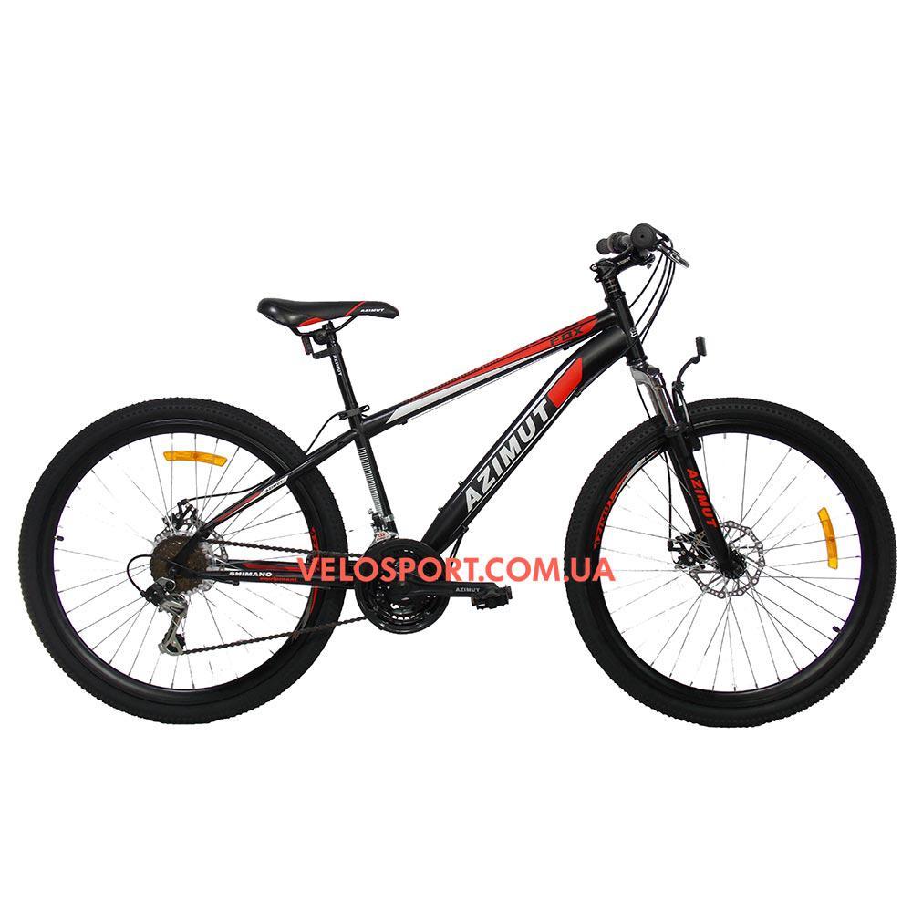 Горный велосипед Azimut Fox 26 D+ черно-красный