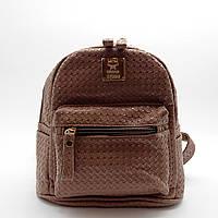 Стильный женский рюкзачок из экокожи темно-бежевого цвета UND-001300, фото 1