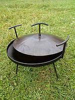 Сковорода дисковая туристическая 400 мм с крышкой, фото 1