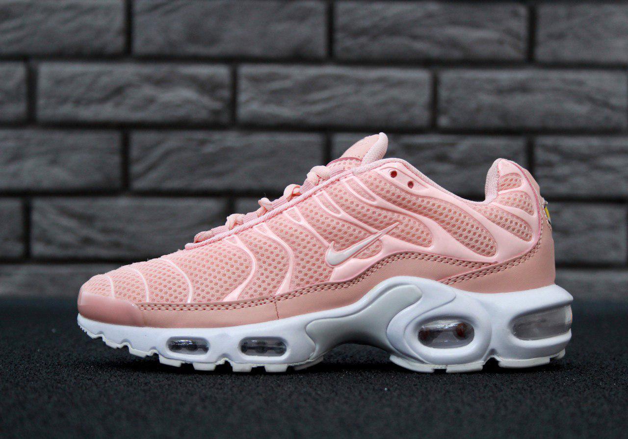 Кроссовки женские персиковый цвет летние Найк Air Max TN Plus - Магазин  обуви Go-Go 57ba82b2de88f