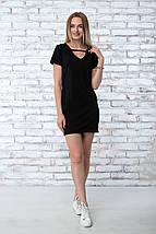 """Платье летнее """"Жаклин"""" - цвет чёрный, фото 3"""
