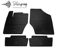 Citroen C4  2011- Комплект из 4-х ковриков Черный в салон