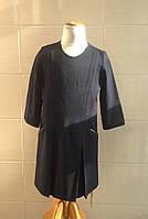Школьное платье с рукавом 3/4 Ahsen синее с атласной отделкой