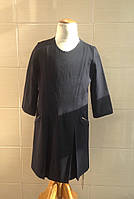 Школьное платье с рукавом 3/4 Ahsen черное с атласной отделкой
